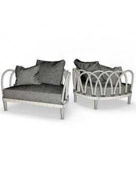 collection-3d-de-mobilier-extérieur-en-bois-fauteuil-arc-filaire