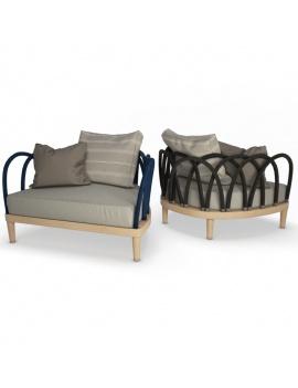 collection-3d-de-mobilier-extérieur-en-bois-fauteuil-arc