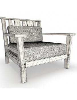 collection-3d-de-mobilier-extérieur-en-bois-fauteuil-york-filaire