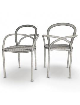 collection-3d-de-mobilier-extérieur-en-bois-chaise-arc-filaire