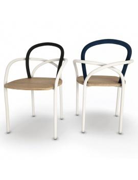collection-3d-de-mobilier-extérieur-en-bois-chaise-arc