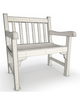 outdoor-wooden-furniture-3d-models-chair-green-wireframe