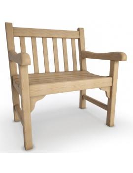 collection-3d-de-mobilier-extérieur-en-bois-chaise-green
