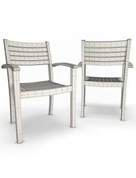 collection-3d-de-mobilier-extérieur-en-bois-chaise-bridget-02-filaire