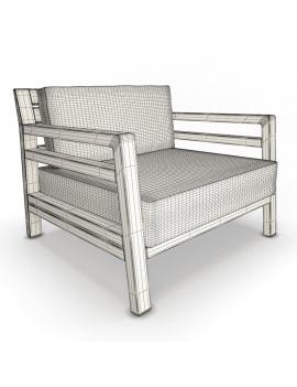 collection-3d-de-mobilier-extérieur-en-bois-fauteuil-costes-filaire