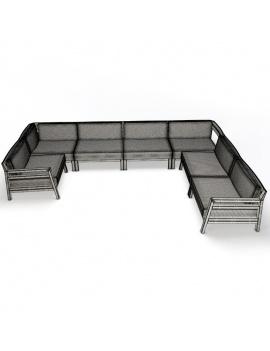 collection-3d-de-mobilier-extérieur-en-bois-composition-costes-filaire