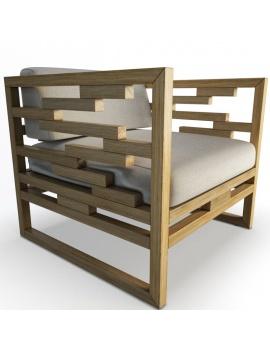 collection-3d-de-mobilier-extérieur-en-bois-fauteuil-kontiki