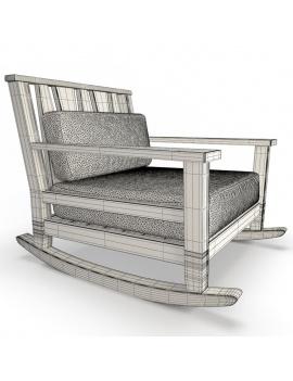 collection-3d-de-mobilier-extérieur-en-bois-fauteuil-à-bascule-york-filaire