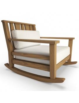 collection-3d-de-mobilier-extérieur-en-bois-fauteuil-à-bascule-york