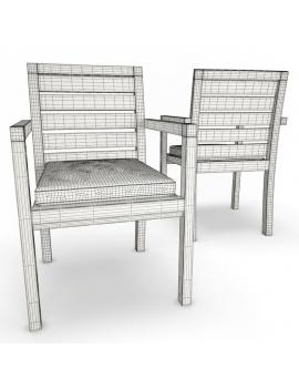 collection-3d-de-mobilier-extérieur-en-bois-chaise-siena-filaire