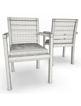 outdoor-wooden-furniture-3d-models-chair-siena-wireframe