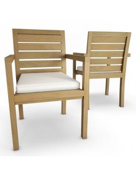 collection-3d-de-mobilier-extérieur-en-bois-chaise-siena