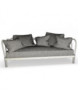 collection-3d-de-mobilier-extérieur-en-bois-canapé-arc-filaire