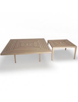 collection-3d-de-mobilier-extérieur-en-bois-table-village