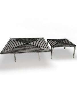collection-3d-de-mobilier-extérieur-en-bois-table-village-filaire