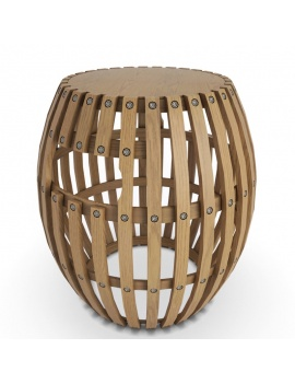 collection-3d-de-mobilier-extérieur-en-bois-tabouret-swing