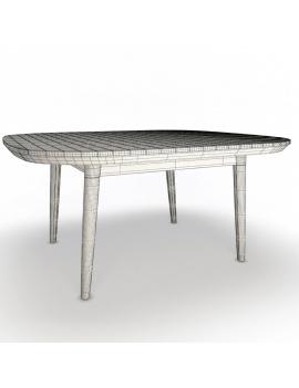 collection-3d-de-mobilier-extérieur-en-bois-table-arc-filaire