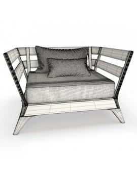collection-3d-de-mobilier-extérieur-en-bois-fauteuil-village-filaire