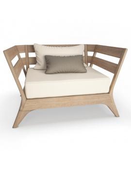 collection-3d-de-mobilier-extérieur-en-bois-fauteuil-village