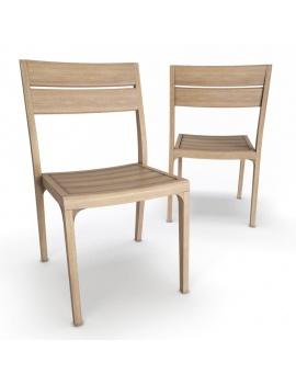 collection-3d-de-mobilier-extérieur-en-bois-chaise-village