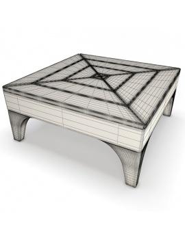 outdoor-wooden-furniture-3d-models-table-village-wireframe