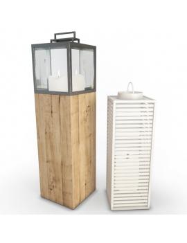 collection-3d-de-mobilier-extérieur-en-bois-lanterne