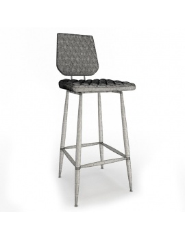 vintage-furniture-3d-models-stool-brighton-wireframe