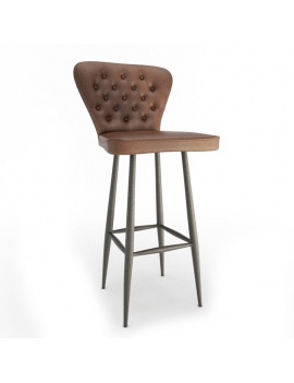 vintage-furniture-chairs-and-sofas-3d-leather-stool-nordwish