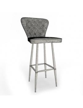 collection-3d-de-mobilier-vintage-tabouret-nordwich-filaire
