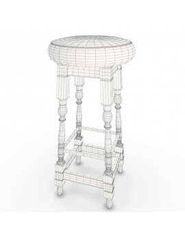 english-pub-furniture-collection-3d-models-bar-stool-wireframe