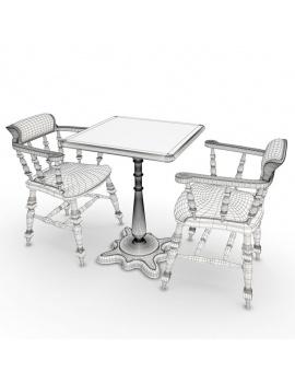amenagement-de-pub-anglais-en-3d-fauteuil-et-table-filaire