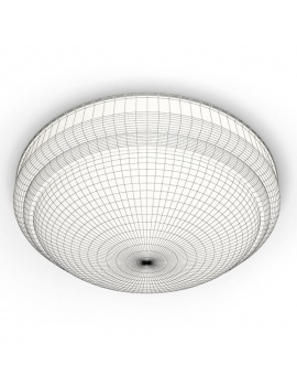 english-pub-furniture-collection-3d-models-ceiling-classic-dome-wireframe