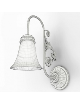 english-pub-furniture-collection-3d-models-wall-light-classic-wireframe