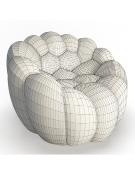 bubble-collection-3d-models-armchair-bubble-wireframe