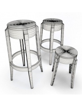 ghost-stool-starck-3d-models-wireframe