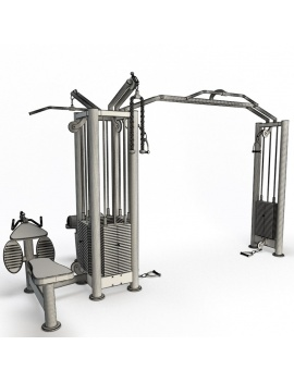 collection-3d-de-machines-de-musculation-cable-station-filaire