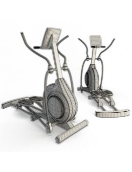 collection-3d-de-machines-de-musculation-velo-elliptique-filaire