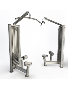 collection-3d-de-machines-de-musculation-lat-pulldown-filaire