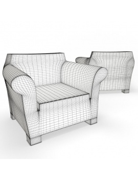 outdoor-plastic-furniture-and-accessories-3d-models-armchair-bubble-wireframe
