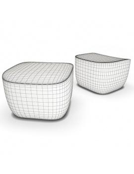 collection-3d-de-mobilier-d-exterieur-en-plastique-modele-3d-pouf-translation-filaire