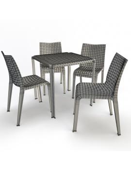 collection-3d-de-mobilier-d-exterieur-en-plastique-modele-3d-table-et-chaise-ami-filaire