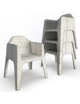 collection-3d-de-mobilier-d-exterieur-en-plastique-modele-3d-fauteuil-plus-filaire
