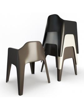 collection-3d-de-mobilier-d-exterieur-en-plastique-modele-3d-fauteuil-plus-dos