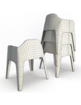 collection-3d-de-mobilier-d-exterieur-en-plastique-modele-3d-fauteuil-plus-dos-filaire