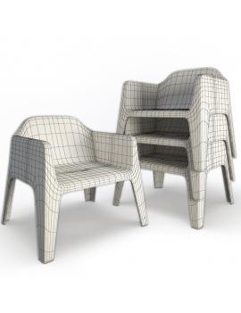 collection-3d-de-mobilier-d-exterieur-en-plastique-modele-3d-fauteuil-plus-lounge-filaire