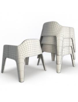 collection-3d-de-mobilier-d-exterieur-en-plastique-modele-3d-fauteuil-plus-lounge-dos-filaire