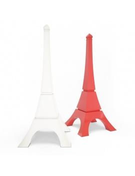 collection-3d-de-mobilier-d-exterieur-en-plastique-modele-3d-sculpture-eiffel-tower