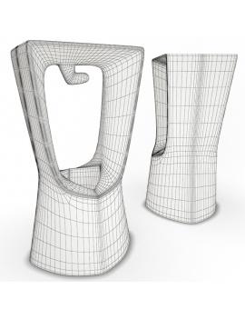 collection-3d-de-mobilier-d-exterieur-en-plastique-modele-3d-tabouret-kenny-filaire