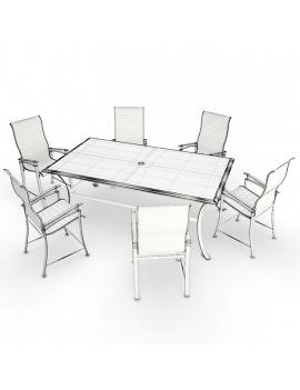 collection-3d-de-mobilier-d-exterieur-en-metal-modele-3d-table-chaise-lounge-filaire
