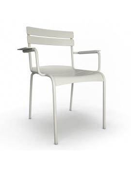 collection-3d-de-mobilier-d-exterieur-en-metal-modele-3d-fauteuil-luxembourg